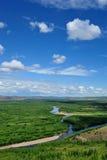 Fluss- und Waldlandschaften lizenzfreie stockfotografie