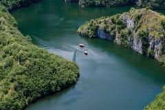 Fluss, Uvac-Schlucht Lizenzfreie Stockfotos