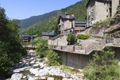 Fluss Valira d'Orient lizenzfreies stockbild