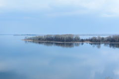 Fluss Volga-Samaraschönheit der Natur Stockfotografie