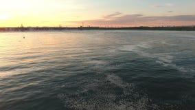 Fluss Volga-Verdammungsluftschießen stock video footage