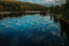 Fluss voll von Sternen Lizenzfreies Stockbild