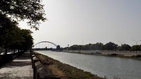 Fluss von chiclana- Andalusienspanien Europa stockfoto