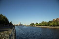 Fluss von Gävle, Schweden lizenzfreie stockfotos