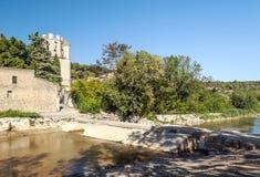 Fluss von Lagrasse Stockbilder