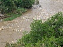 Fluss von oben lizenzfreies stockbild