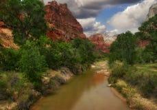 Fluss von Zion Stockfoto