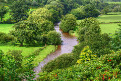 Fluss in Wales Stockbilder