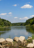 Fluss Warta - Polen Stockbild