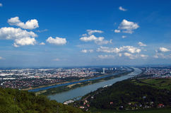 Fluss Wien-Donau Stockbilder