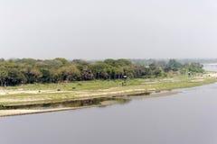 Fluss Yamuna Stockbild