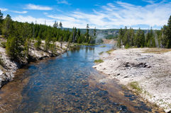 Fluss an Yellowstone Nationalpark Stockfotografie