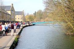 Fluss-Ypsilon, Bakewell, Derbyshire lizenzfreies stockbild