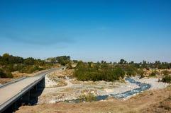 Fluss zentrales Talgar, Kasachstan lizenzfreies stockbild