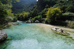 FlussAcheron, in altem Griechenland bekannt als Styx Stockfotos