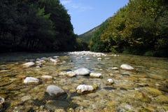 FlussAcheron, in altem Griechenland bekannt als Styx Lizenzfreies Stockfoto
