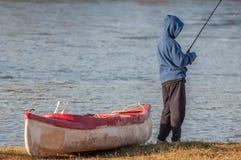 Flussangeln Lizenzfreies Stockfoto