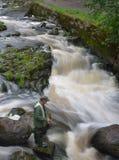 Flussangeln Finnlands Vantaa Stockbild