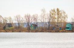 Flussbank Stockbild