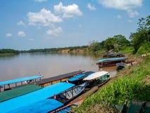 Flussbank in Peru Lizenzfreies Stockbild