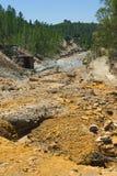 "Flussbett in  ""Minas de Riotintoâ€, Huelva Lizenzfreie Stockfotos"