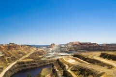 "Flussbett in  ""Minas de Riotintoâ€, Huelva Stockfotografie"