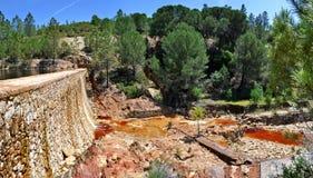 """Flussbett in  """"Minas de Riotintoâ€, Huelva Lizenzfreie Stockfotografie"""