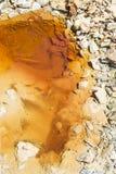 """Flussbett in  """"Minas de Riotintoâ€, Huelva Lizenzfreie Stockbilder"""