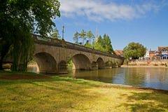 Flussbrücke in Oxfordshire Lizenzfreie Stockbilder