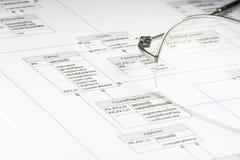 Flussdiagramm 01 Lizenzfreies Stockbild