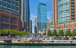 FlussEsplanade, Chicago-Fluss, Illinois Stockfotografie