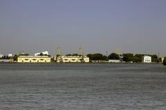 Flusshafen lizenzfreie stockbilder