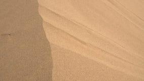 Flussi di corrente dalla duna di sabbia archivi video