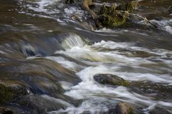 Flussi di tum del ¡ del kÅ del fiume DÅ «in Neris Regional Park in Lituania immagine stock libera da diritti