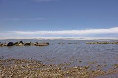 Flussi offshore del ghiaccio del mare Glaciale Artico immagine stock libera da diritti
