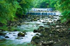 Flusskaskade Stockfoto