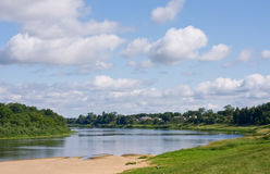Flusslandschaft Stockfoto