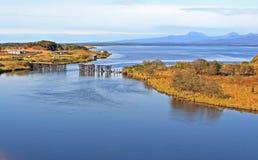 Flusslandschaft Lizenzfreie Stockbilder