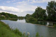 Flusslandschaft in Frankreich Lizenzfreies Stockfoto