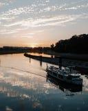 Flusslandschaft Opole Odra lizenzfreies stockbild