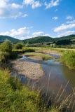 Flusslandschaft am Sommer stockbild