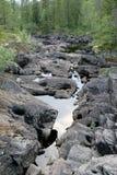 Flusslaufen trocken Lizenzfreies Stockbild