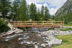 Flusso alpino Fotografia Stock Libera da Diritti