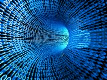 Flusso binario, flusso di informazione Fotografia Stock