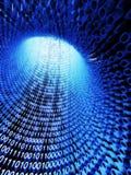 Flusso binario, flusso di informazione Immagine Stock