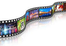 Flusso continuo del concetto di media Immagini Stock Libere da Diritti
