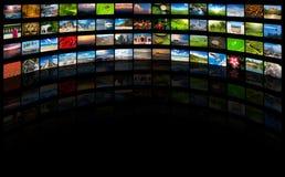 Flusso continuo del concetto di media Fotografia Stock Libera da Diritti