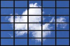 Flusso continuo della nuvola della TV immagini stock libere da diritti