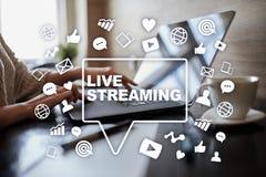 Flusso continuo Live Webcast SMM Vendita medica fotografia stock