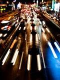 Flusso degli indicatori luminosi in città Fotografia Stock Libera da Diritti